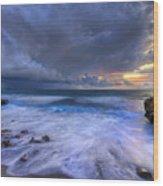 Thunder Tides Wood Print