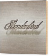 Thunderbird Badge Wood Print