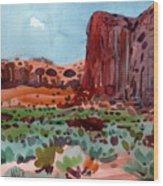 Thunderbird Butte Wood Print