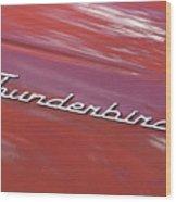 Thunderbird Car Nameplate Wood Print