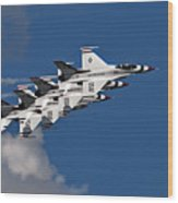 Thunderbirds Echelon Wood Print