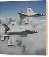 Thunderbirds Of The Future Wood Print