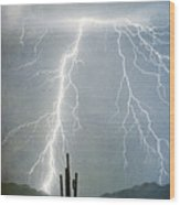 Thunderbolts From  The Heavens Above Wood Print