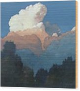 Thundercap Rising In Santa Fe Wood Print
