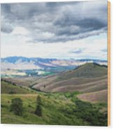 Thunderclouds Over The Hills Wood Print