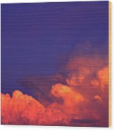 Thunderhead At Sunset Wood Print
