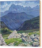 Thunderheads at Fox Creek Pass Wood Print