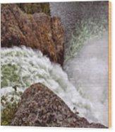 Thundering Waters Wood Print