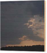 Thunderstorm And Sunset #2 Wood Print