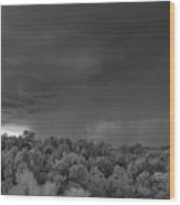 Thunderstorm Ir 0731 Wood Print