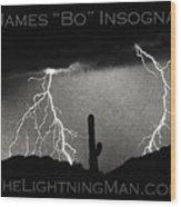 Thunderstorm Poster Print Wood Print