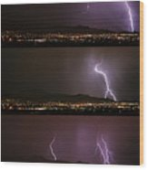 Thunderstorm Sequence Wood Print