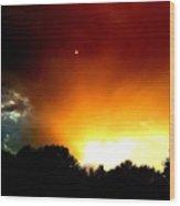 Thunderstorm Sunset Wood Print