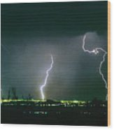 Thunderstorm View From North Scottsdale Arizona Wood Print