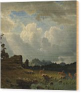 Thunderstorm_in_the_rocky_mountains Wood Print