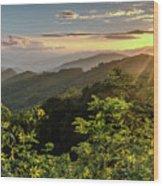 Thunderstruck Sunset Wood Print