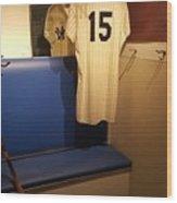 New York Yankee Captian Thurman Munson 15 Locker Wood Print