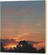 Thursday Sunset Wood Print