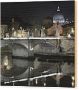 Tiber's Reflection Of Religion Wood Print