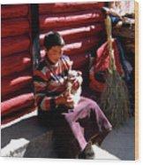 Tibetan Boy Wood Print