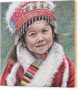 Tibetan Girl Wood Print