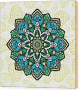 Tibetan Mandala Seamless Pattern Wood Print