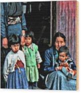 Tibetan Refugees Wood Print