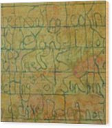 Tibetan Saying Wood Print