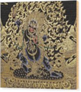 Tibetan Thangka - Vajrapani - Protector And Guide Of Gautama Buddha Wood Print