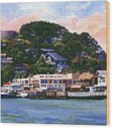Tiburon California Waterfront Wood Print
