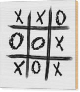 Tic-tac-toe Wood Print