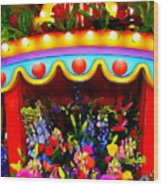 Ticket Booth Of Flowers Wood Print