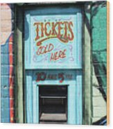 Ticket Window For Show Tickets Wood Print