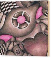 Tickled Pink Wood Print