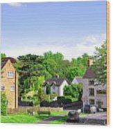 Ticknall Village From Ingleby Lane Wood Print