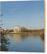 Tidal Basin And Jefferson Memorial Wood Print by Megan Cohen