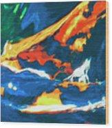 Tidal Forces Wood Print