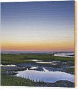 Tidal Pool Sunset Wood Print