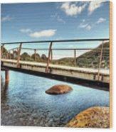 Tidal River Bridge Wood Print