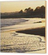 Tidal Sunset Wood Print