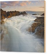 Tidal Surge Wood Print