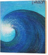 Tidal Wave. Power And Beauty Wood Print