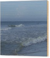 Tide Rolling In Ocean Isle Beach North Carolina Wood Print