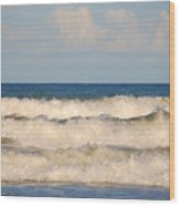 Tide Rolling To The Shores Wood Print