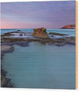 Tidepool Dawn Wood Print
