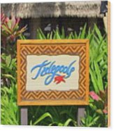 Tidepools Restaurant Wood Print