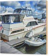 Tidewater Yacht Marina 5 Wood Print by Lanjee Chee