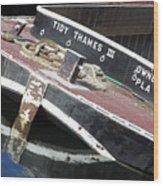 Tidy Thames Wood Print