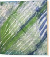 Tie Dye Art. Rainforest In Spring Wood Print