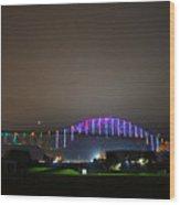 Tie Dye Bridge Wood Print